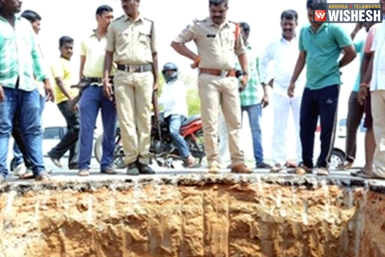 'Divine dream' triggers digging up of highway in Telangana