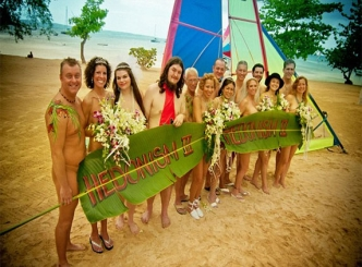 American couples with the nine who got married nude in Jamaica on Valentine's Day