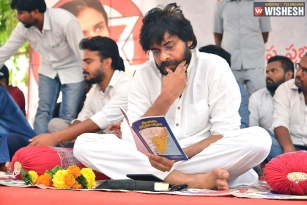 Janasena Chief Pawan Sits On One Day Fast For Uddanam Kidney Patients